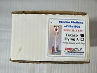 PROSCALE MODELS - Service Stations Of The 50's Texaco Flying A PUMP ISLANDS NEW