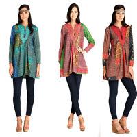 VELEZRA Womens Plus Bohemian Flowy Pheasant Boho Long Sleeve Dress 1X 2X 3X