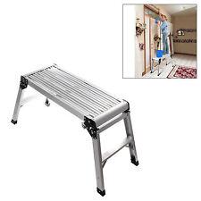 Hop up Step Ladder Odd Job Folding Stool Platform Work Bench Aluminium