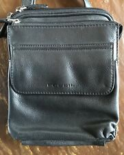Fossil Leather Crossbody Shoulder Bag Purse With Build In Wallet Organizer Black