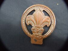 Vintage Solid Copper  Scout Emblem  Badge  Double Sided 50's