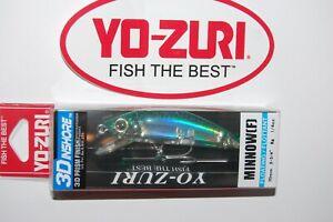 "yo zuri 3d inshore minnow floating 2 3/4"" 1/4oz r1211-hgm green mackerel"