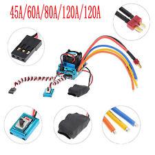 Controladores De Velocidad ESC sin Escobillas Sensor 45A/60A/80A/120A para HSP 1/10 Rc Coche Parte