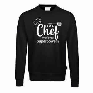 Fun Pullover Chef Superpower Grillen Koch Gourmet Essen BBQ Chefkoch