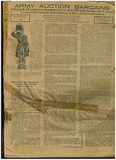 1920 Army Auction Bargains Catalog, Ancient and Modern Military Guns & Goods