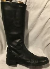 WelTex Ladies Leather Black Knee High Boots In Good Condition Size Eu 40 UK 7