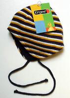 ERGEE Strickmütze mit Kordel - FLEECE GEFÜTTERT Gr. 3 - Baby Kinder Winter Mütze