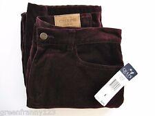 RALPH LAUREN CHAPS DENIM ASCOMBE Bergundy Velvet Jeans 5 Pocket Cotton NWT Sz 8