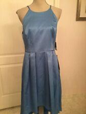 Aiden Mattock Asymmetrical Spaghetti Straps Size 12 Blue Dress *NWT*