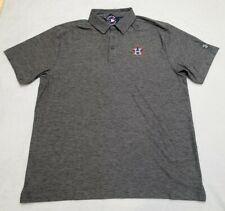NEW! Houston Astros Under Armour Heather Gray Polo Shirt SZ XL Loose