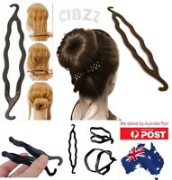Hair Donut Bun Maker Former Plastic Flexi Styler Twist Stick Clip Ponytail Tool