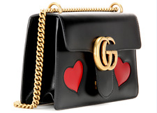 GUCCI  GG 'Marmont Medium Heart' LEATHER HAND /SHOULDER / CROSSBODY WOMEN BAG