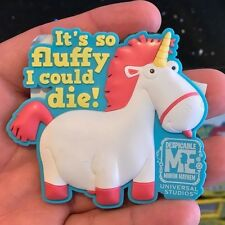 Universal Studios Despicable Me Minion Mayham It's So Fluffy I Could Die! Magnet