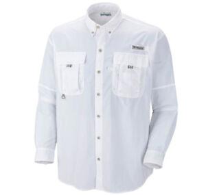 NEW COLUMBIA Men's PFG BAHAMA II Long Sleeve Fishing Shirts, XS-S-M-L-XL-2XL