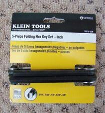 HEAVY LARGE SIZE Klein Folding Hex Key Set BRAND NEW 5-PIECE