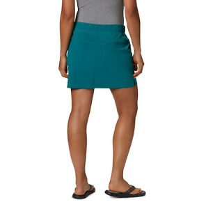Womens New M L NWT Columbia Run Camp Hike Skort Skirt Shorts Pockets UPF Aqua