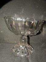 ANTIQUE EAPG EARLY AMERICAN PATTERN GLASS COMPOTE NON FLINT