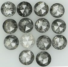 Natural Loose Diamond Round RoseCut Salt And Pepper I1Clarity 14Pcs 1.56Ct L1901