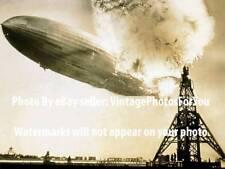 Vintage Hindenburg Airship Disaster New Jersey Lakehurst Navy Air Station Photo