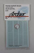 Archer (1/32 1/35 54mm - 150mm) Human Eyeball Decals #1 (4 sizes 200 Fg) AR99001