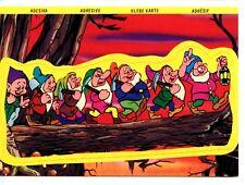 Disney Snow White Friends 7 Dwarfs Adhesive Sticker Unusual Novelty Postcard