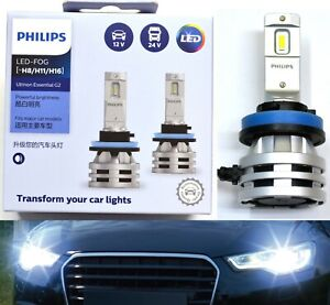 Philips Ultinon LED G2 6500K White H8 Two Bulbs Fog Light Upgrade Replacement K