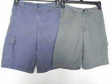 2 Pairs Boys Cargo Shorts Blue Urban Pipeline Gray Basic Edition Size 10