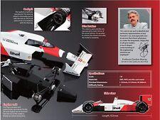 1/8 DeAGOSTINI KYOSHO McLaren Honda MP4/4 F1 Model + Ayrton SENNA figure XMAS