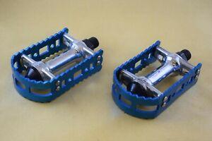 VP Victor 450 9/16 pedal set old school bmx Vintage Anodized blue aluminium NOS