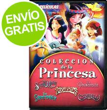 Coleccion de la Princesa 5 Peliculas: Snow White / Pricesita / Sirenita