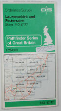 1981 OS Ordnance Survey Pathfinder 1:25000 map Laurencekirk Fettercairn NO 67/77