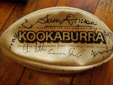 VINTAGE KOOKABURRA AFL FOOTBALL SIGNED BY VARIOUS AUSTRALIAN PLAYERS