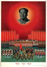 Repro De Impresión De Chino Cartel Chairman Mao La Oriente es roja! »