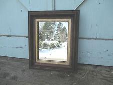 "Walnut Victorian   Frame / Mirror - fruit wood 1880's Great Patina 10"" x 1 2"""