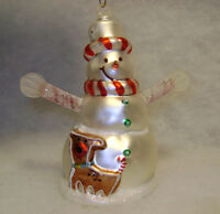 Snowman with Dog Christmas tree Ornament