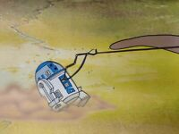 Star Wars Droids Original Animation Production Cel PAN Landscape R2D2 17x11