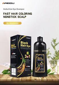 Meidu 500ML Colours Black Dye Hair Shampoo