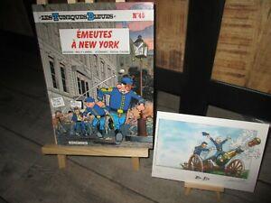 Lambil&Cauvin-EO- Tuniques bleues-Emeutes a New York+ Ex Libris(HC) signé