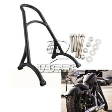 Black Short Sissy Bar Backrest For Harley Sportster XL 883 1200 48 2004 latter