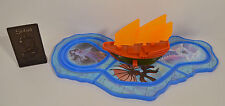 """2003 Journey Of The Chimera 3.5"""" Ship & 10"""" Map Burger King Toy Sinbad"""