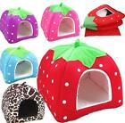 Foldable Warm Soft Pet Dog Kennel Cat Puppy Bed Mat Pad House Cushion Strawberry
