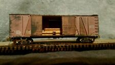 N SCALE 40 BOX CAR MTL ATLAS INTERMOUNTAIN ATHEARN EXACTRAIL UD LOAD.WEATHERED