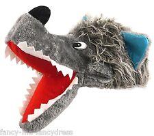 pour hommes femmes gris Grand Méchant Loup Animal Chien Costume déguisement