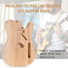 More details for unfinished electric guitar body sycamore wood blank barrel for tele style diy