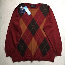 Pringle of Scotland 100% Lambswool Made in Scotland Burgundy Sweater XL