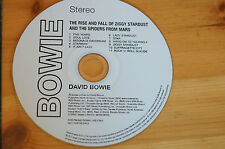 David Bowie Ziggy Stardust Spiders Album cd 40th Anniversary Promo 11Tk MegaRare