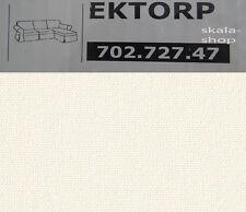 Ikea EKTORP Bezug 2er Sofa m. Recamiere Stenasa weiß Leinen 702.727.47 Neu OVP