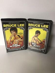 Lot VHS cassette Bruce Lee René Chateau Video jeu de la mort big boss bon état