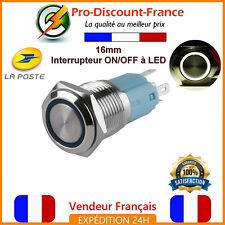 1 Bouton Poussoir Interrupteur LED BLANC Métal 5v - 220V 5A Arduino Voiture 12v