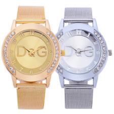 Fashion Women Ladies Scrub Belt Watch Quartz Analog Stainless Steel Wristwatch